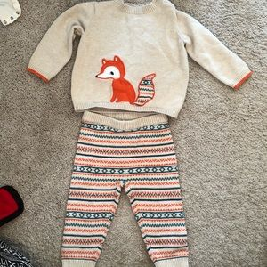 Gymboree Baby Fox Sweater and Pants Outfit 12-18M